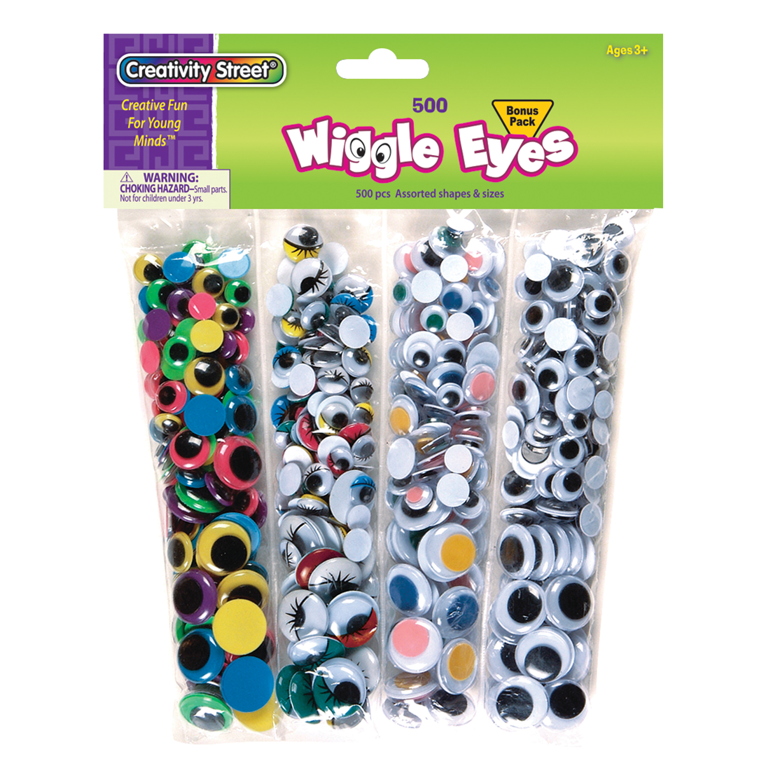 Wiggly Eyes: Assorted - 500 Count