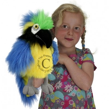 Blue & Gold Macaw, Baby Birds Puppet, 12''