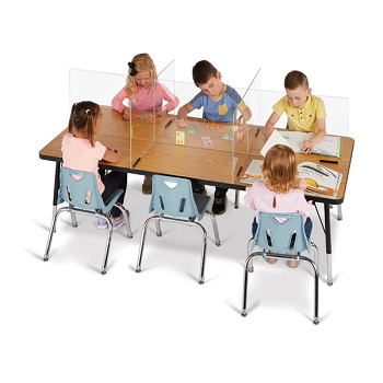 See-Thru Table Divider Shields - 6 Station Panels, select from a variety of sizes - Order in Bulk & Save!