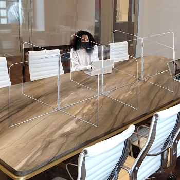 Large 10 Panel Interlocking Acrylic Tabletop Divider Partition - 116