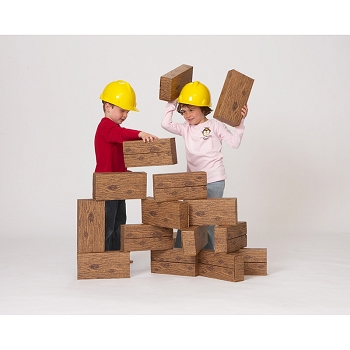 Giant Timber Blocks - 16 Pieces