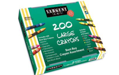 Classroom Pack - 200 Count Crayons - Large Size - Set of 8 - 25 of Each