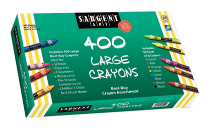 Classroom Pack - 400 Count Crayons - Large/Jumbo Size - Set of 8 - 50 of Each