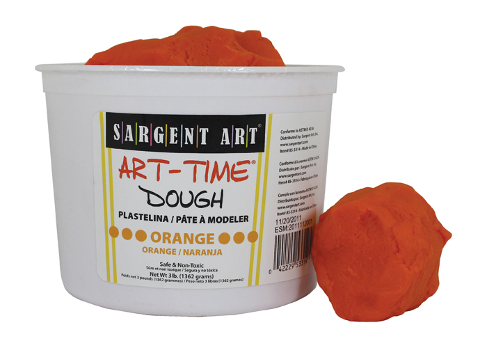 Art Time Dough, 3 lb - Orange