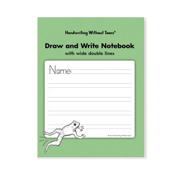 Handwriting Without Tears Double Line Wide Draw and Write Notebook