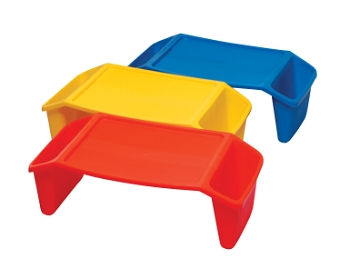 Handy and Stackable Lap Tray Set - Assorted Bright Color - Set of 6