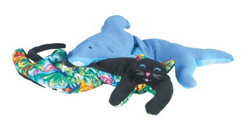 Abilitations Dolphin Wrap Scented Animal Weighted Toy, Fleece, Cotton Cover