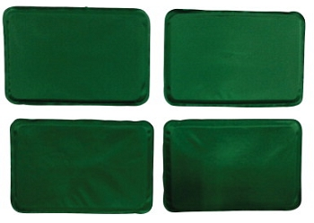 Abilitations In Your Pocket Large Extra Weight Vest Kit, 4 lb, Green, Thermoplastic