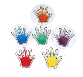 Abilitations Squishy Handprints - Set of 6 Pair in 6 Assorted Colors