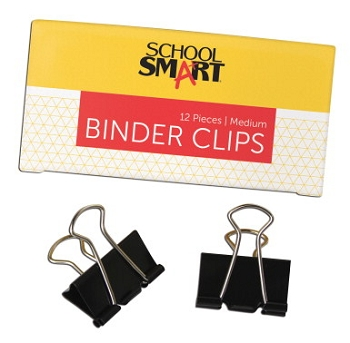 School Smart Binder Clip, Medium, 5/8