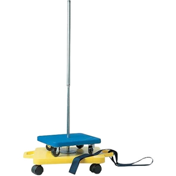 Champion Sports Scooter Stacker, Polypropylene, Yellow