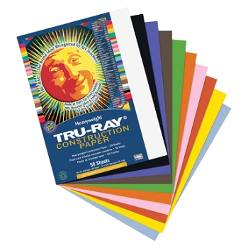 Tru-Ray Sulphite Acid-Free Non-Toxic Construction Paper - Color Choices - Pack of 50