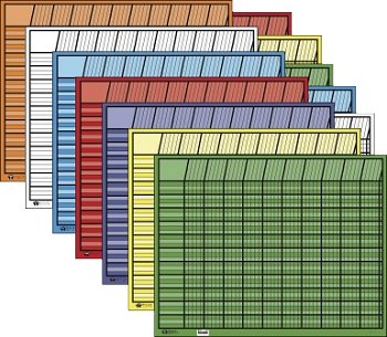 Shapes Etc Large Horizontal Incentive Chart Set - Assorted Color - Set of 12