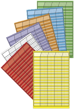 Shapes Etc Small Vertical Incentive Chart Set - Assorted Color - Set of 12