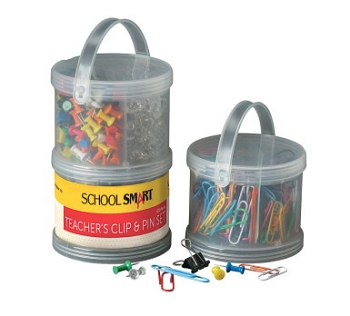 School Smart Vinyl Coated Teachers Clip and Pin Set - Set of 3