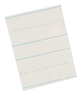 School Smart Skip A Line Long Ruled Writing Paper for Grade 2, White - Pack of 500