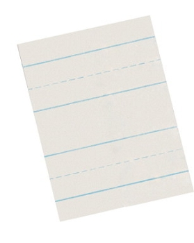 School Smart Skip A Line Writing Paper for Grade 3, White - Pack of 500
