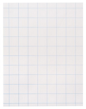 School Smart 3-Hole Punched Double Sided Graph Paper with Chipboard Back, White - Pack of 500