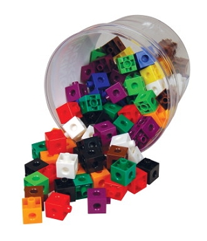 Learning Advantage Link Blocks - Assorted Colors - Set of 100