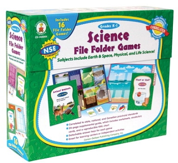 Science File Folder Game - Skill Building Center Activities, 9-3/4