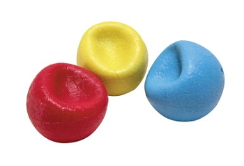 Abilitations Rubber Weighted Textured Balls - Assorted Colors - Set of 3