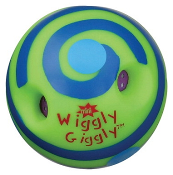 Toysmith Mini Wiggly Giggly Ball, Soft Plastic - Assorted Color