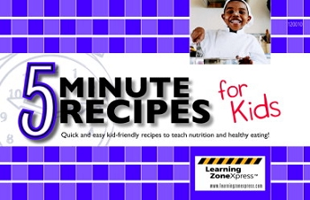 Learning ZoneXpress Book - 5 Minute Recipes for Kids - Spiral Bound