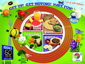 Learning ZoneXpress Active Kids MyPlate Laminated Poster