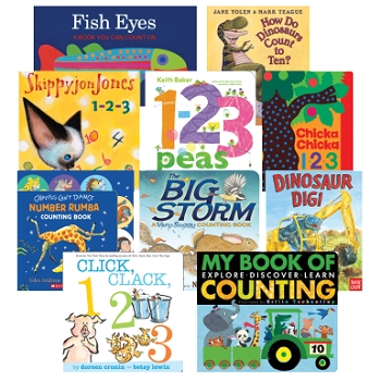 Board Books 123s - Set of 10