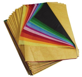 Spectra Deluxe Bleeding Art Tissue Paper Assortment - Assorted Rainbow Color - Pack of 480
