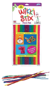 Wikki Stix Wax Non-Toxic Armature Wire Set - Assorted Neon Colors - Set of 48