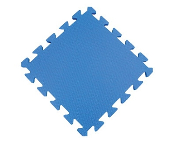 Puzzle Floor Mat, Blue