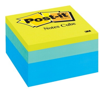 Post-it Note Cube, Ribbon Candy - 470 Sheets/Pad