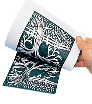 Scratch-Art Subi Block Printing Paper, White - Pack of 100