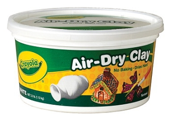 Crayola Air-Dry Easy-to-Use Durable Non-Toxic Self-Hardening Modeling Clay, 25 lb Bucket, White