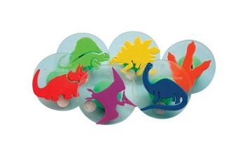 Center Enterprises Giant Dinosaurs Stamp Set with Storage Case, 3