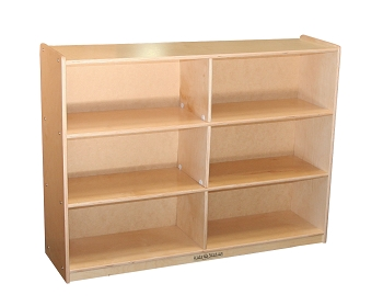 Storage Unit for Preschool and School Age classroom, 6 Section Cabinet, Fully Assembled