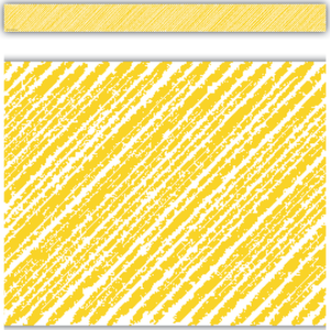 Yellow Scribble Straight Border Trimmer