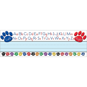 Paw Prints Left/Right Alphabet - Flat Name Plates
