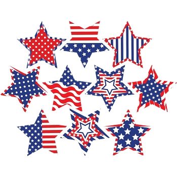 Patriotic Fancy Stars - Accents