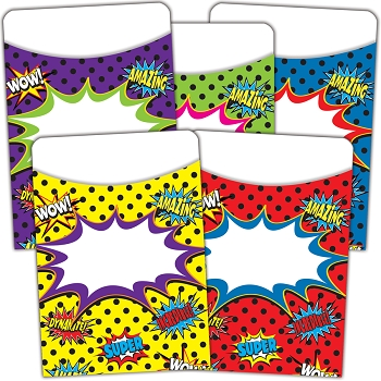 Superhero Library Pockets - Multi-Pack