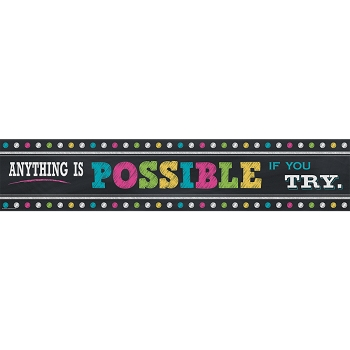 Chalkboard Brights Anything is Possible - Banner