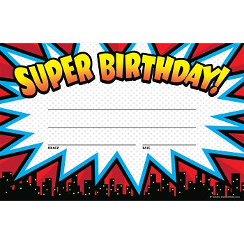 Superhero Super - Birthday Awards