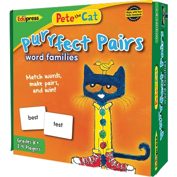 Pete the Cat Purrfect Pairs Game - Word Families