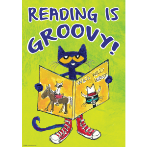 Pete the Cat Reading Is Groovy - Positive Poster