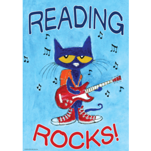 Pete the Cat Reading Rocks - Positive Poster