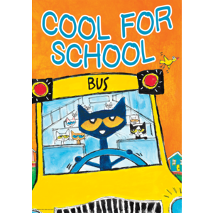 Pete the Cat Cool For School - Positive Poster