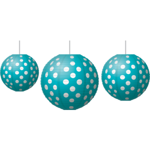 Teal Polka Dots - Paper Lanterns