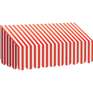 Red & White Stripes - Awning