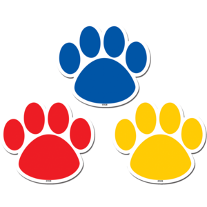 Colorful Paw Prints - Magnetic Accents